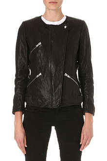 ISABEL MARANT ETOILE Bradi leather biker jacket