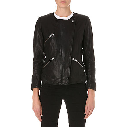 ISABEL MARANT ETOILE Bradi leather biker jacket (Black