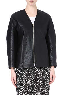 ISABEL MARANT Camelia textured-leather jacket
