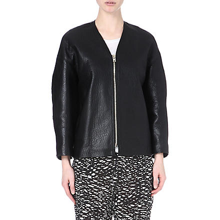 ISABEL MARANT Camelia textured-leather jacket (Black