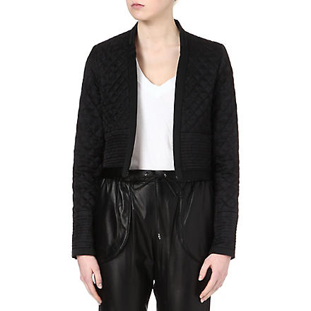 ISABEL MARANT Kade quilted silk jacket (Black