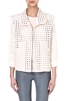 ISABEL MARANT Elena denim lattice vest