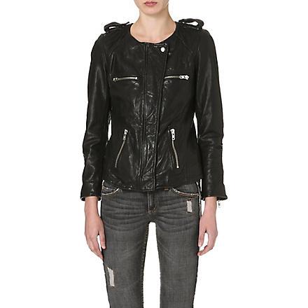 ISABEL MARANT ETOILE Bacuri leather jacket (Black