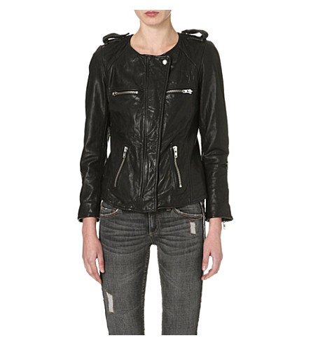 ISABEL MARANT ETOILE Bacuri leather jacket (Black