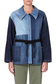 ISABEL MARANT ETOILE Dani patchwork denim jacket
