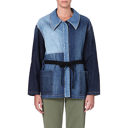 ISABEL MARANT ETOILE Dani patchwork denim jacket (Blue