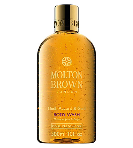 MOLTON BROWN Oudh accord and gold body wash 300ml