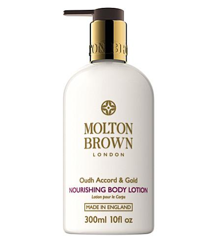MOLTON BROWN Oudh accord and gold body cream 300ml