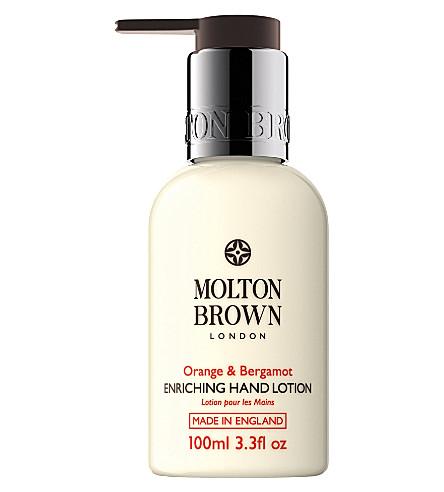 MOLTON BROWN Orange & bergamot hand lotion 100ml