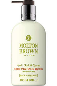 MOLTON BROWN Myrrh Musk & Cypress enriching hand lotion 300ml