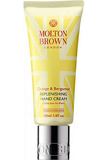 MOLTON BROWN Orange & Bergamot replenishing hand cream 40ml
