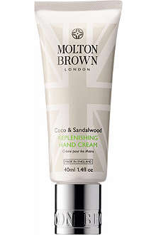 MOLTON BROWN Coco & Sandalwood replenishing hand cream 40ml