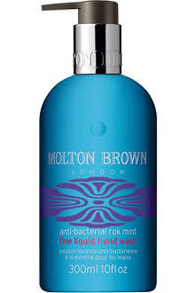 MOLTON BROWN Anti-bacterial Rok Mint fine liquid hand wash 300ml