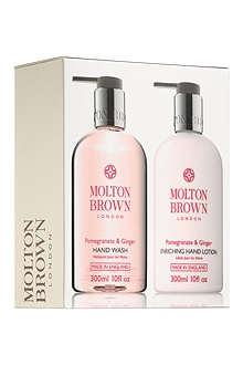 MOLTON BROWN Pomegranate & Ginger hand wash & lotion set