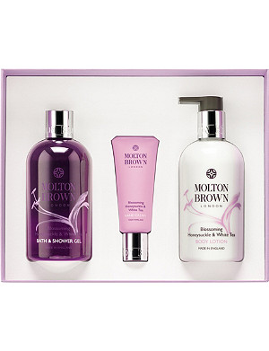 MOLTON BROWN Blossoming honeysuckle and white tea body indulgences gift set