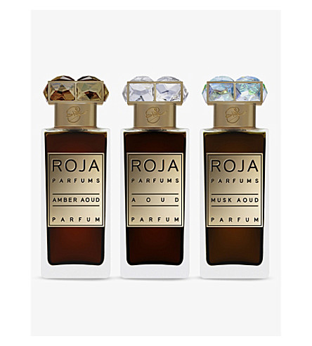ROJA PARFUMS Set of three 30ml Aoud Parfum De Voyage
