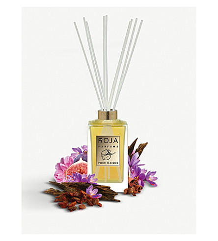 ROJA PARFUMS Amber Aoud reed diffuser decanter set