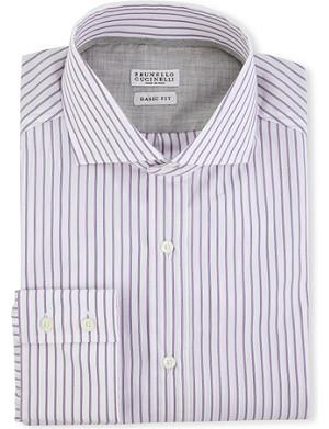 BRUNELLO CUCINELLI Spread-collar regular-fit single-cuff shirt