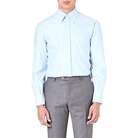 BRUNELLO CUCINELLI Oxford pocket shirt (Sky