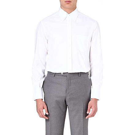 BRUNELLO CUCINELLI Oxford pocket shirt (White