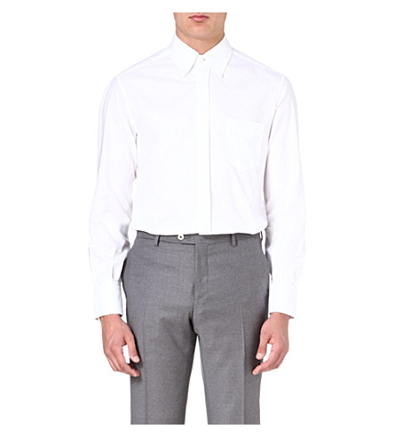 BRUNELLO CUCINELLI Oxford pocket shirt (White