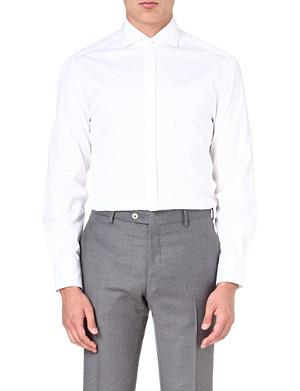 BRUNELLO CUCINELLI Striped slim-fit shirt