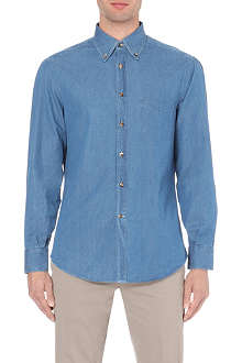 BRUNELLO CUCINELLI Chambray regular-fit shirt