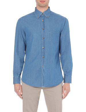 BRUNELLO CUCINELLI Chambray regular-fit shirt