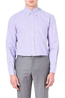 BRUNELLO CUCINELLI Gingham regular-fit shirt