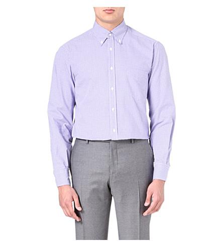 BRUNELLO CUCINELLI Gingham regular-fit shirt (Purple