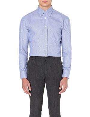BRUNELLO CUCINELLI Gingham regular-fit shirt