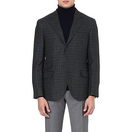BRUNELLO CUCINELLI Single-breasted cashmere jacket (Greys