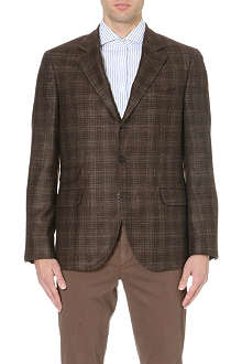 BRUNELLO CUCINELLI Checked wool-blend jacket