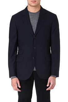 BRUNELLO CUCINELLI Wool and silk-blend suit jacket