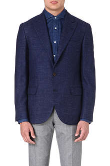BRUNELLO CUCINELLI Textured wool-blend suit jacket