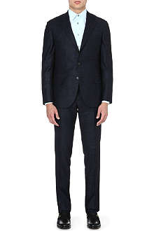 BRUNELLO CUCINELLI Single-breasted wool-blend suit