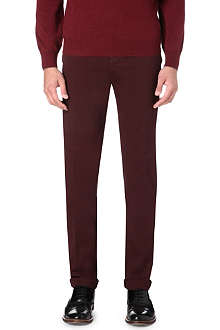 BRUNELLO CUCINELLI Slim-fit straight stretch-cotton trousers