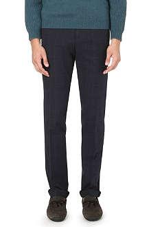 BRUNELLO CUCINELLI Slim-fit tapered cotton trousers