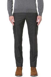 BRUNELLO CUCINELLI Cargo-pocket wool trousers