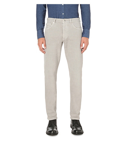 BRUNELLO CUCINELLI Slim-fit straight denim jeans (Smoke