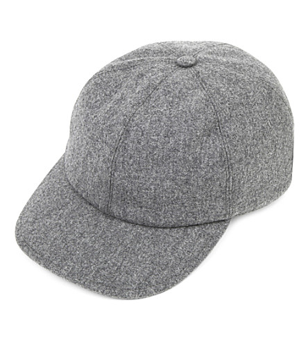 BRUNELLO CUCINELLI Wool baseball cap (Grey