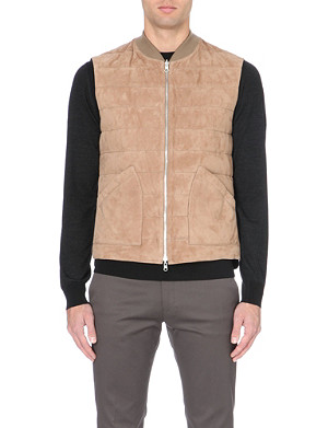 BRUNELLO CUCINELLI Quilted reversible suede gilet