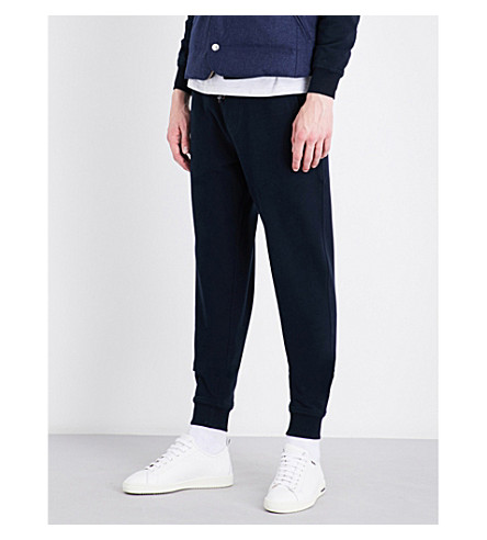 BRUNELLO CUCINELLI Cotton-jersey jogging bottoms (Navy