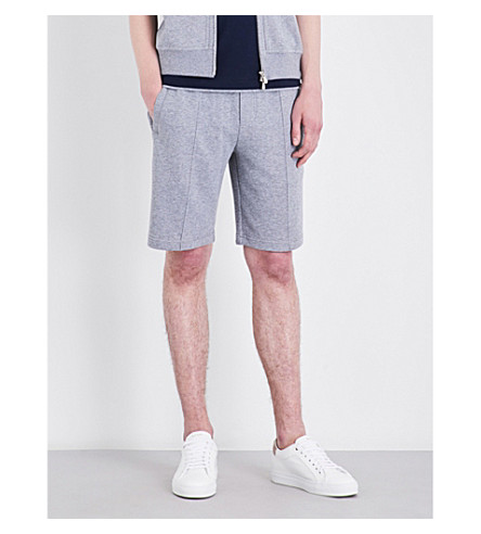 BRUNELLO CUCINELLI Piping-detail cotton-jersey shorts (Pearl