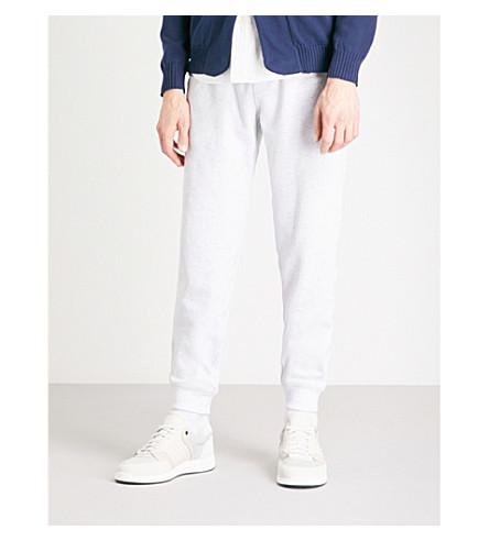 BRUNELLO CUCINELLI Marled cotton jogging bottoms (Light+grey