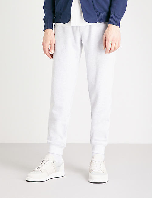 BRUNELLO CUCINELLI Marled cotton jogging bottoms