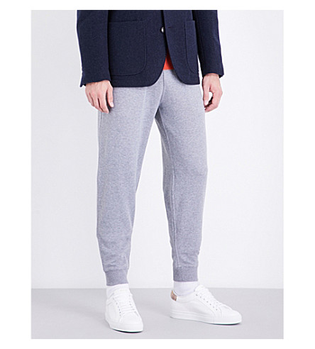 BRUNELLO CUCINELLI Marled cotton track pants (Pearl