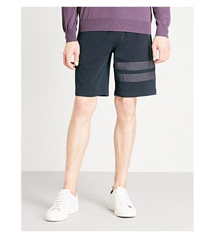 BRUNELLO CUCINELLI 水疗条纹-细节球衣短裤 (海军