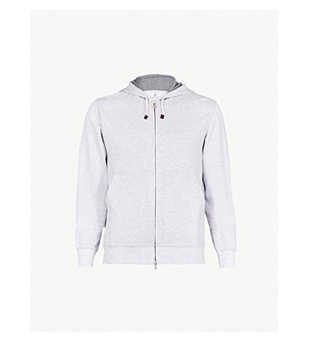 BRUNELLO CUCINELLI Spa jersey hoody (Light+grey