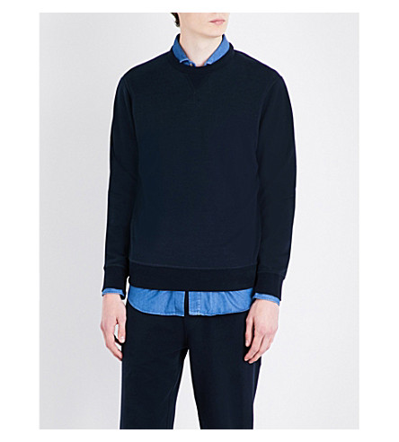 BRUNELLO CUCINELLI Crewneck cotton sweatshirt (Navy